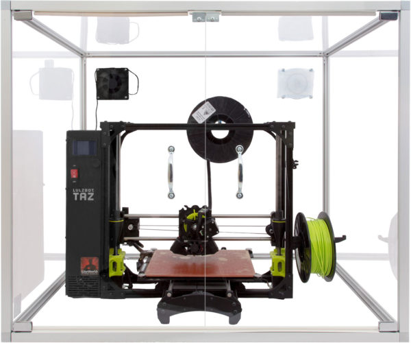 3D Printer Enclosure with Luzbot Printer