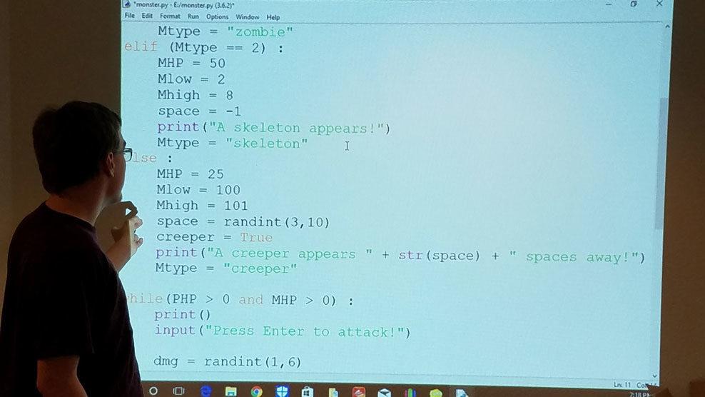 Python coding class